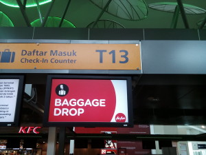 Air Asia baggage Drop Counter